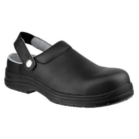 Amblers Fs514 Black Safety Clogs Steel Toe Caps