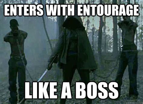 Entourage Meme - michonne is a crazy ninja loner but still a better mom