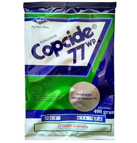 obat pertanian pembasmi jamur fungisida copcide 77wp