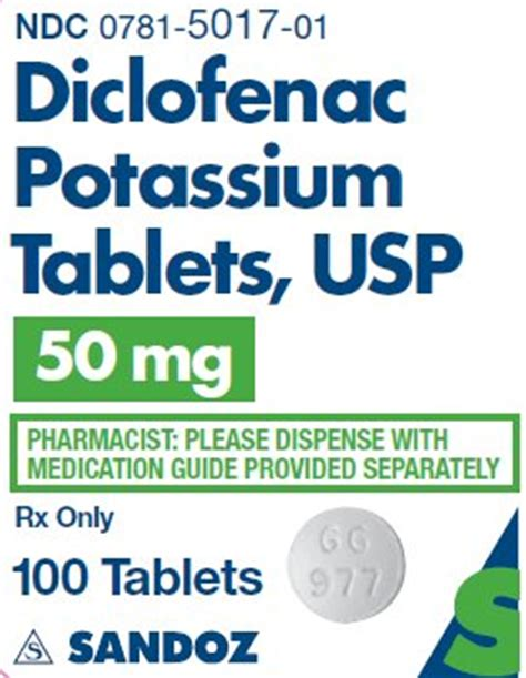 Nocoflar 50 Mg Diclofenac Potassium diclofenac tablets fda prescribing information side effects and uses