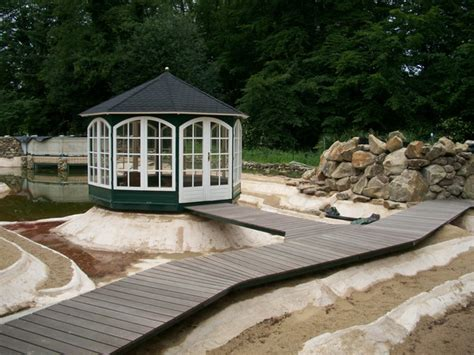 pavillon teich ein schwimmteich mit pavillon entsteht fischteich