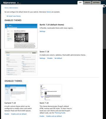 drupal themes explained drupal administration explained the administration menu