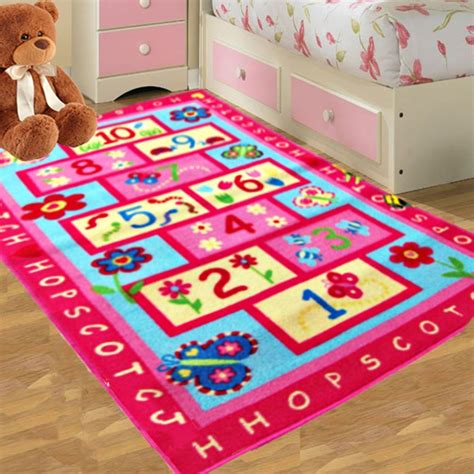 kids bedroom rugs kids pink hopscotch girls bedroom floor rugs nurcery play
