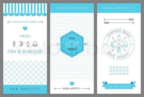 seafood menu template restaurant menu design template fish and seafood menu