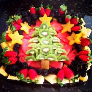 christmas tree fruit tray party food pinterest