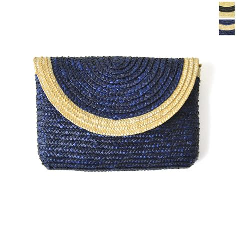 Clutch Bag Abu Abu Bg2305 crouka abu abu bicolor clutch bag straw and ar 499 2