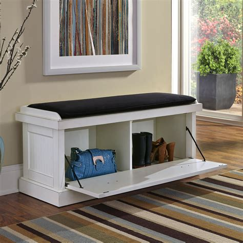 white bench with storage shop home styles nantucket transitional distressed white