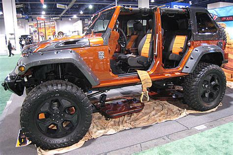 Crush Jeep Jeep Orange Crush At 2008 Sema Show