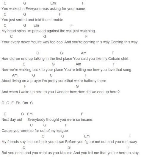 pattern up lyrics 109 best guitar chords images on pinterest sheet music