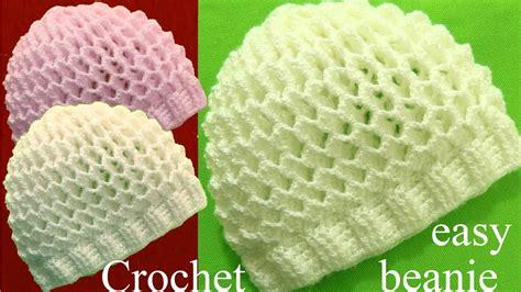beanie o gorro tejido en crochet doovi gorro a crochet en punto 3d panal o nido de abeja tejidos
