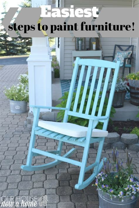 the easiest way to paint outdoor furniture how to use a