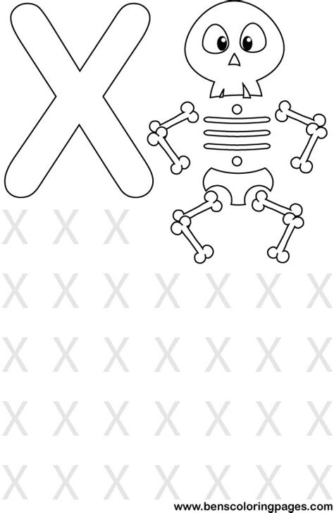 Letter X Coloring Pages Preschool by Learning Alphabet Letter X Preschool Coloring Page