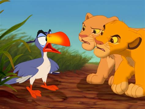 parrot zazu simba  nala cubs  lion king screenshot