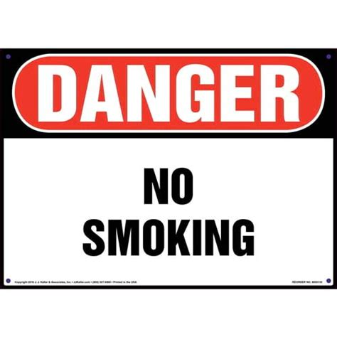 no smoking signs and labels osha warning danger no smoking sign osha