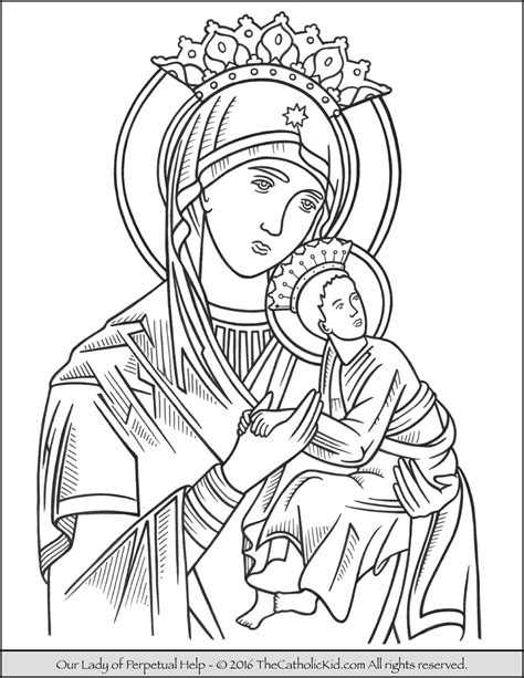 for our daughters a coloring book books our of perpetual help coloring page catholic