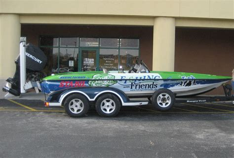 boat wraps for fishing boats boat wraps and lettering sign station