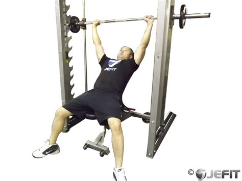 smith machine incline bench smith machine incline bench press exercise database