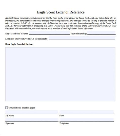 sle eagle scout letter of recommendation 9 download
