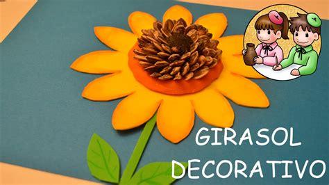 como hacer un girasol gigante de papel c 243 mo hacer un girasol decorativo actividades manuales