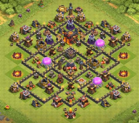 coc layout th8 anti loot top 35 best th8 farming war trophy and hybrid layouts