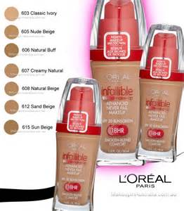 where can i buy l shades l oreal loreal infallible make up advanced never