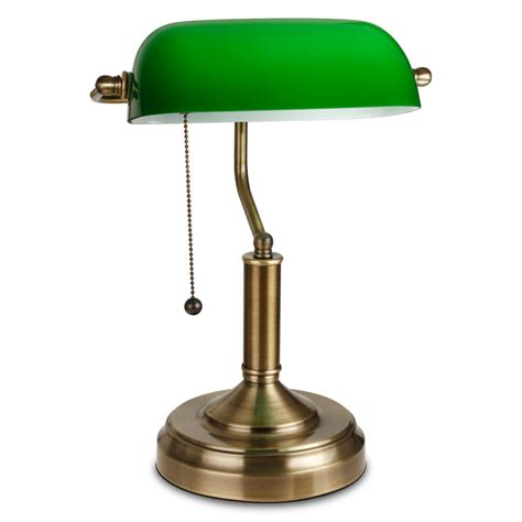 Green Glass Shade Bankers L 28 Images Vintage Brass