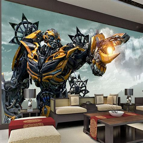 transformers bedroom decor transformers bumblebee wall mural large wall art photo