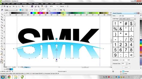 tutorial logo windows corel tutorial coreldraw x6 logo smk youtube