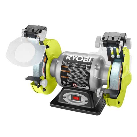 ryobi 6in bench grinder ryobi 2 1 amp 6 in grinder with led lights bg612g the home depot