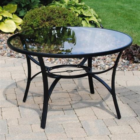Menards Patio Table Backyard Creations 46 Quot Augustine Dining Table At Menards 174