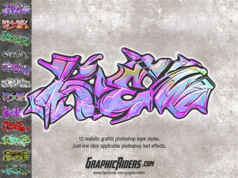 graffiti templates for photoshop graphicriders realistic graffiti layer styles 2