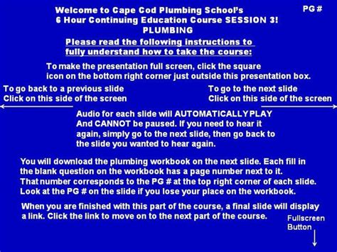 Plumbing Continuing Education by Continuing Education Session 3 Plumbing Part 1 Of 2