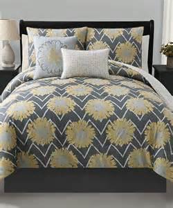 yellow reversible comforter set