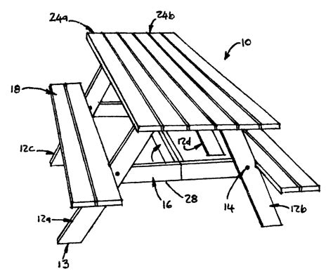 how to draw a picnic table picnic table drawing how to draw a picnic table