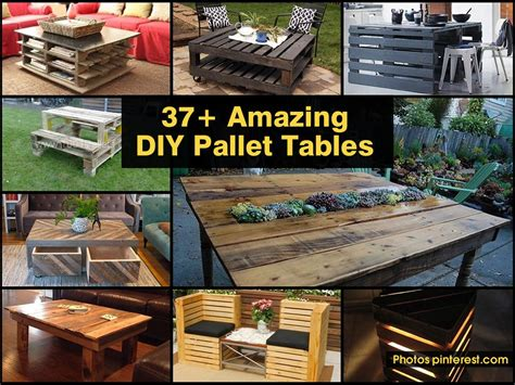 Pallet Furniture Diy Crafts Directory Of Free Projects 37 Amazing Diy Pallet Tables