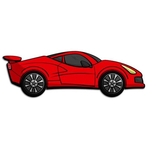 cartoon sports car sports car vector