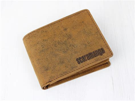 Leather Wallet Coin s leather wallet with coin pocket new in scaramanga