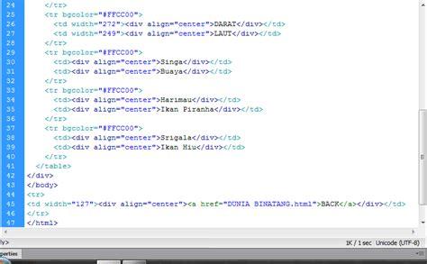 Membuat Link Dalam Tabel Html | ncellina membuat tabel di dalam link dreamweaver