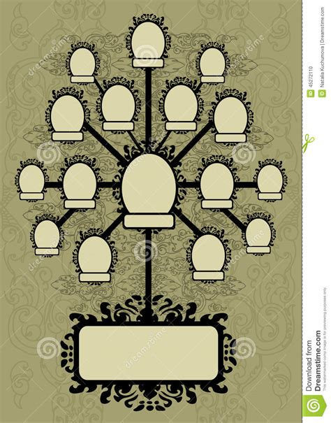 Vector Family Tree Design With Frames Vector Illustration Cartoondealer Com 16263746 Vector Family Tree Design With Frames And Autumn Leafs Place For Text