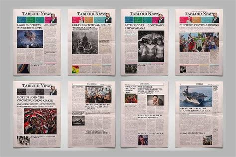 tabloid template newspaper design templates design trends premium psd