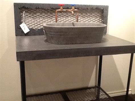 stone sinks for sale jesco vanity with washtub vessel and raw copper