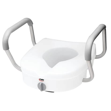 carex health brands e z lock raised toilet seat with