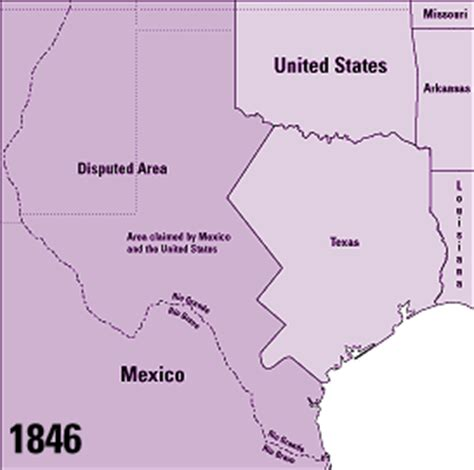 states that border texas map establishing borders the expansion of the united states 1846 48