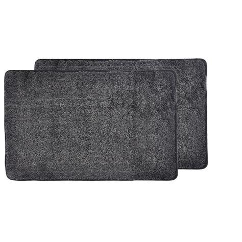 The Mat Pack by Trek N Clean Black Gray 20 In X 30 In Door Mat 2 Pack