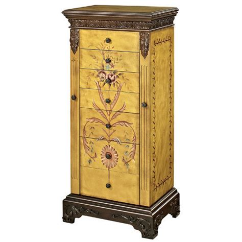 painted jewelry armoire cabinet organizers hand painted jewelry armoire hand