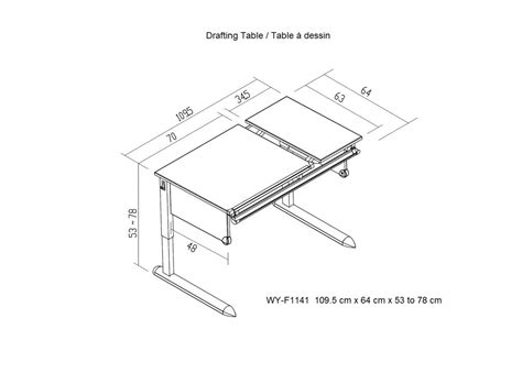 Drafting Table Drafting Table Dimensions