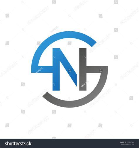 Sn This Ns Sn Initial Company Circle S Stock Vector 317757968