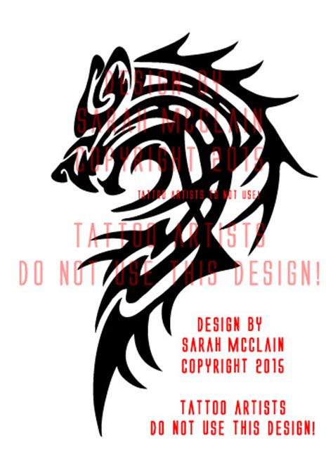 werewolf tribal tattoo custom tribal wolf by draikairion on deviantart