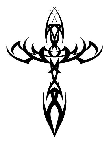 tribal cross tattoos designs most popular tribal ideas for and