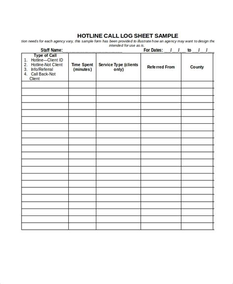 referral log template call log sheet template 11 free word pdf excel documents download free premium templates